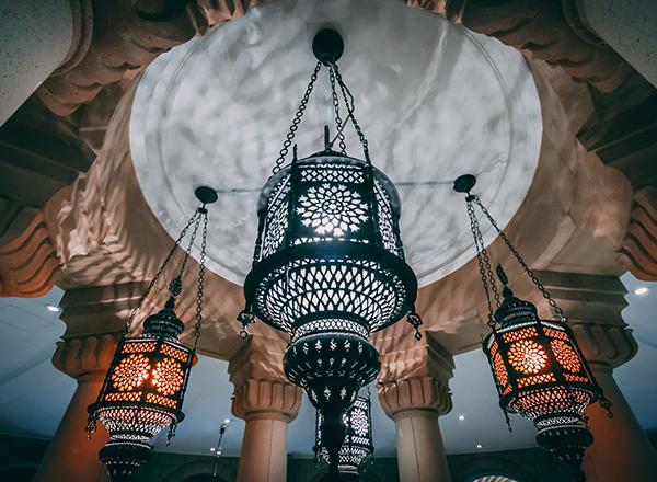 United Arab Emirates ornate ceiling