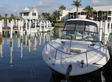 Yacht moored in Captiva Florida