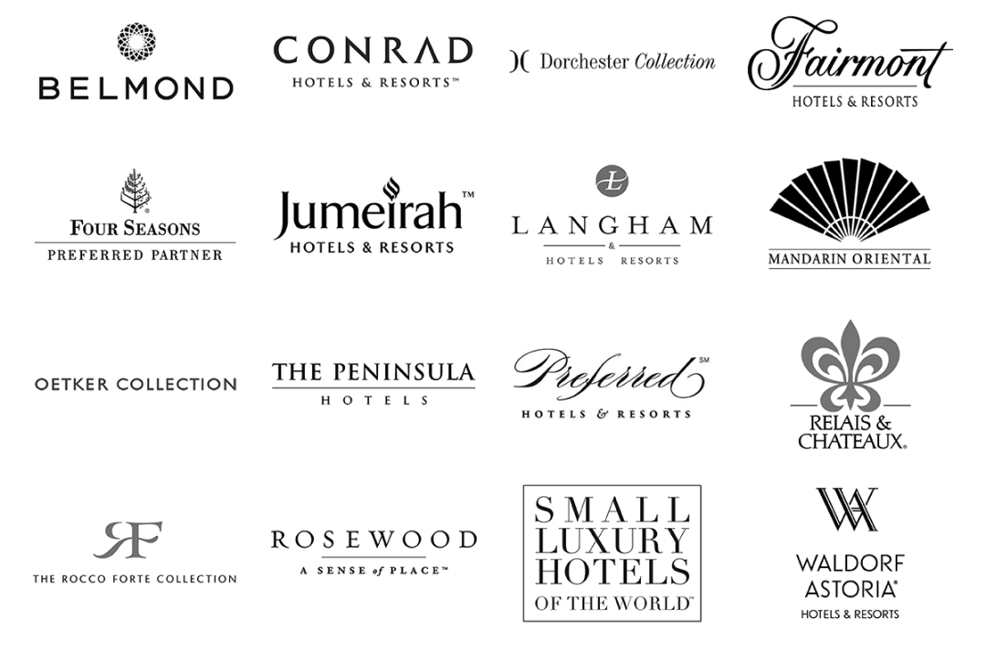 Luxury travel brand icons
