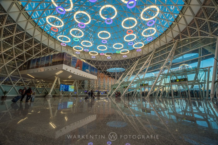 Lobby of the new airport terminal in Marrakech