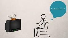stick figure watching tv