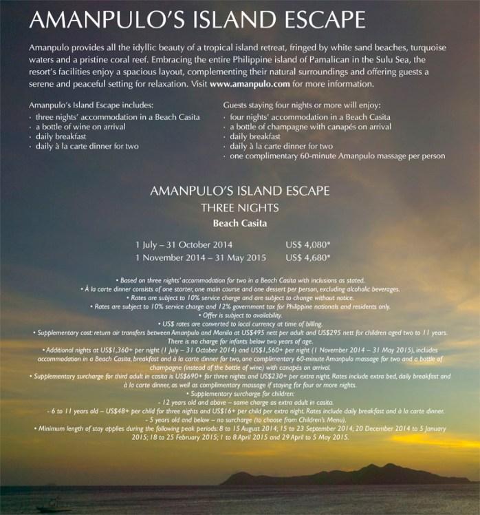 Amanpulos Island Escape Travel Traveline Specials