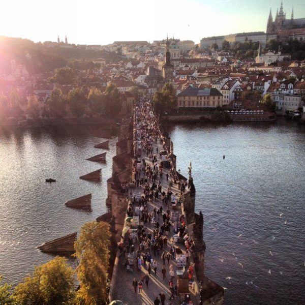 charles bridge lookout prague