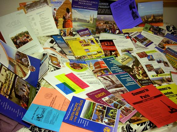 study abroad handouts