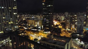 Waikiki at night from the room
