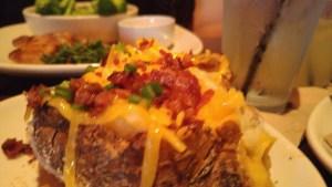Closeup of the potato
