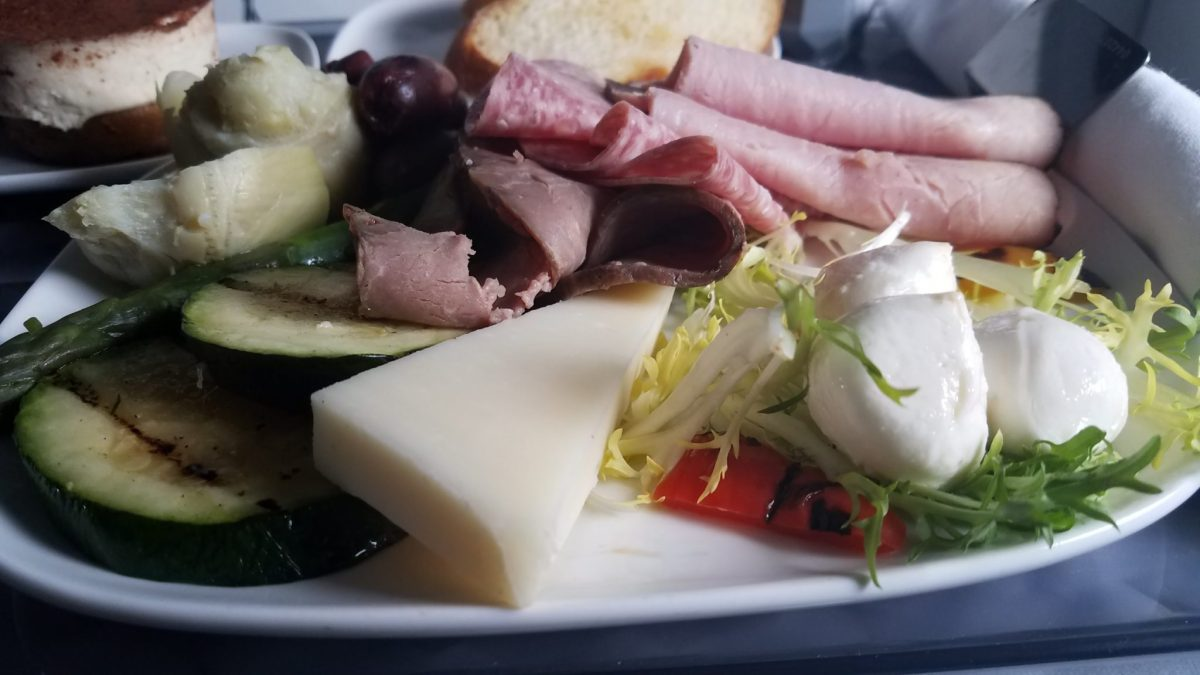 Recent LAX Visit and @Delta First Class Meal – Antipasto Salad