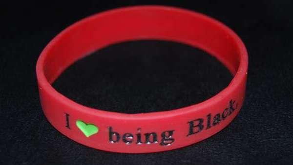I Love Being Black wristband