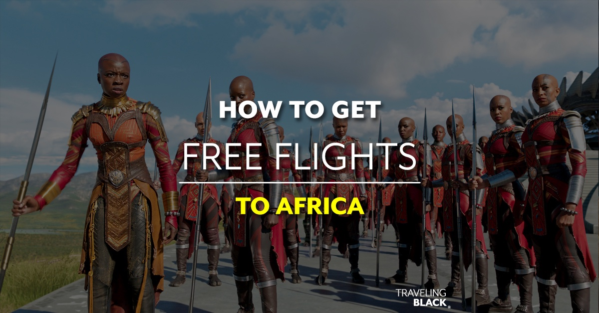 how to get free flights to africa