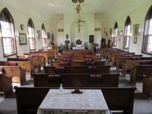 interior of little brown church