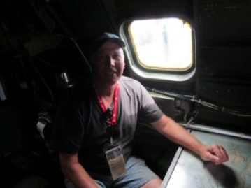 Keith in the navigator seat
