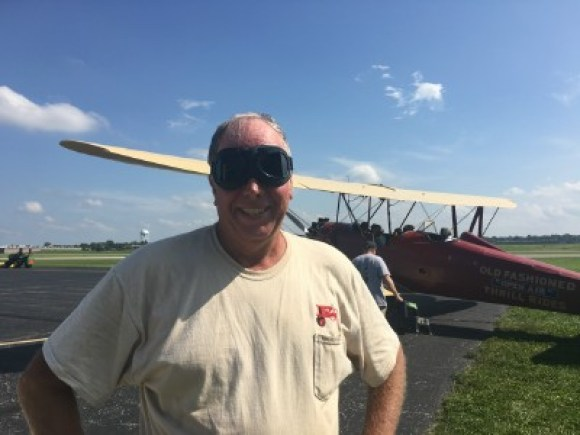 keith and the biplane
