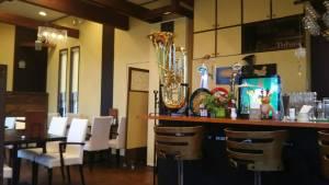 富良野ハンバーグレストランテューバーズの中に飾ってある楽器チューバ