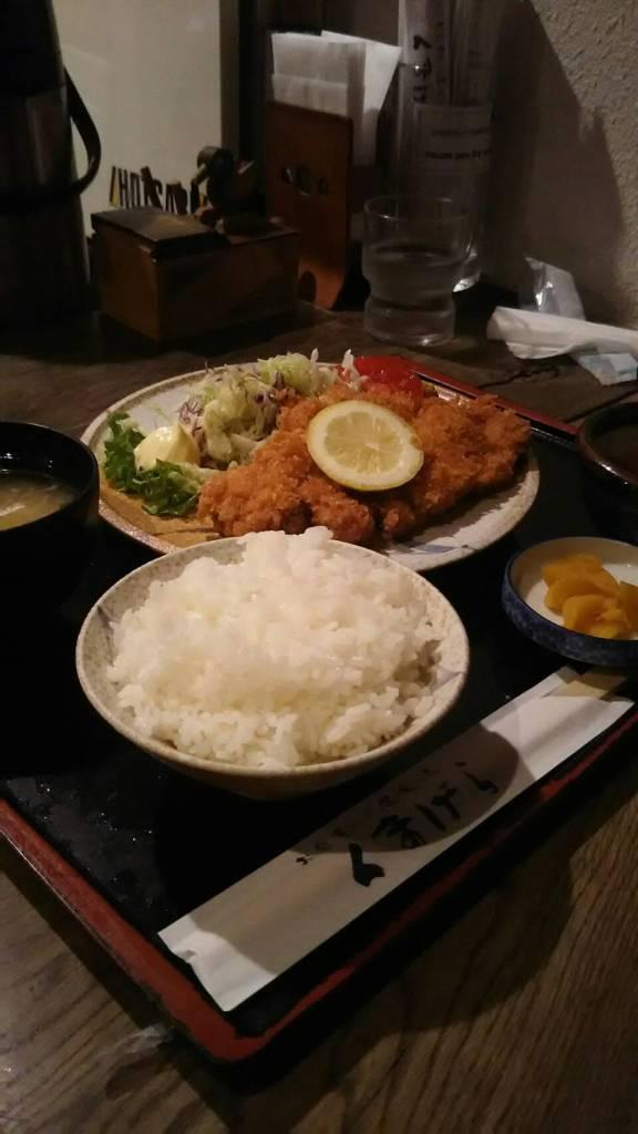 富良野のお食事処「くまげら」のとんかつ定食!