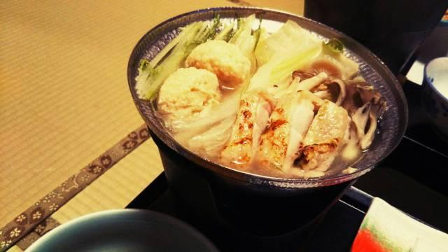 ゆもと登別「鶏の水炊き鍋」