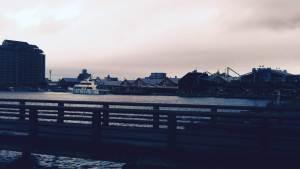 函館ベイエリア、海のダイニングしろくまからの景色