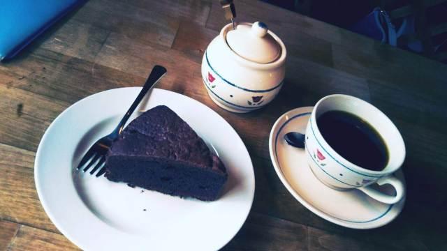 八雲町キッチンアウルのチョコレートケーキ