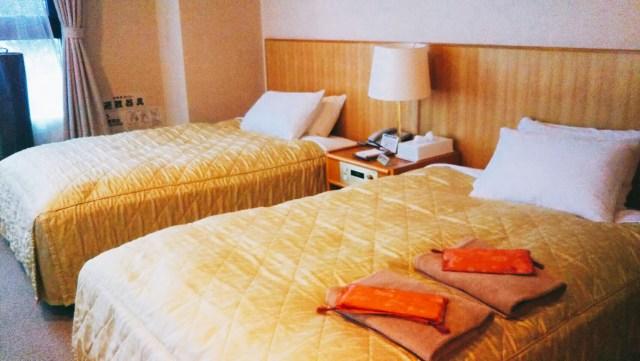 ホテルグランド天空のお部屋のベッド