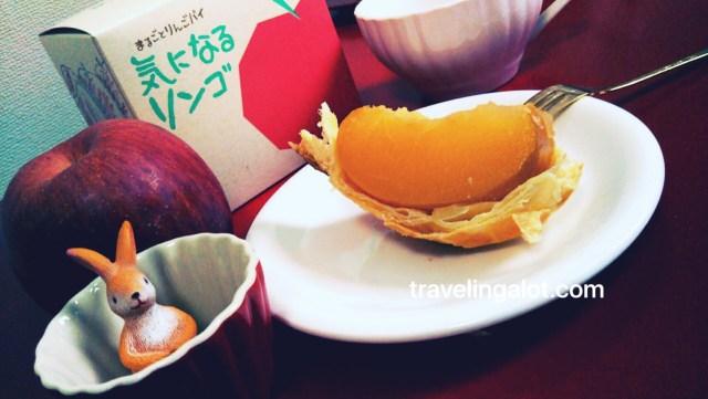 ラグノオ気になるリンゴでティータイム!シャキシャキなリンゴパイです♪