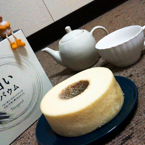 白い恋人の白いバウムクーヘン「TSUMUGI」を食べてみた!
