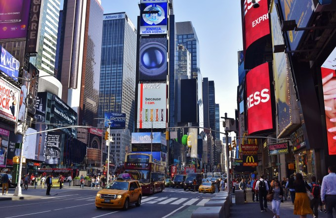 A shot of Times Square.