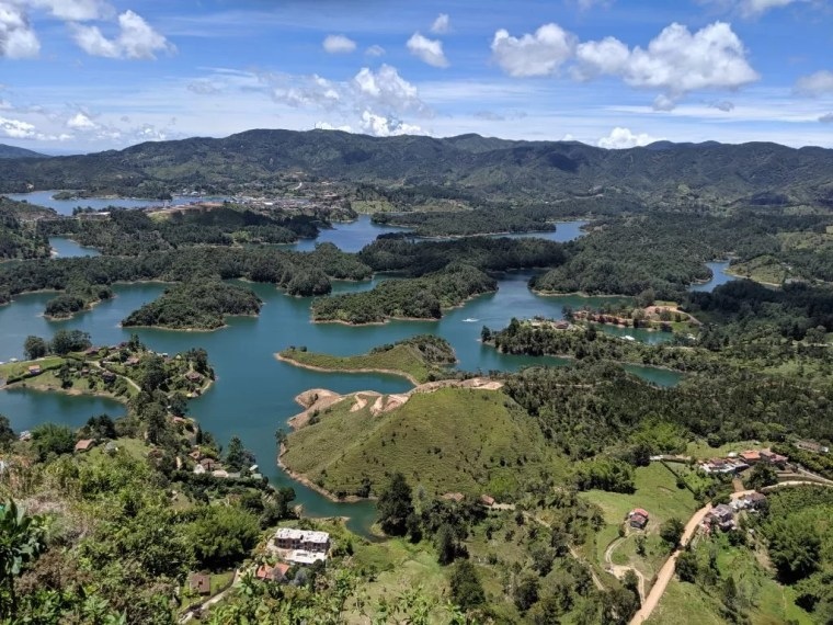 View from the top of the Rock of Guatapé