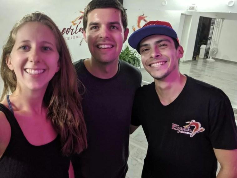 With our Salsa teacher, Julian, at Euphoria Dance School