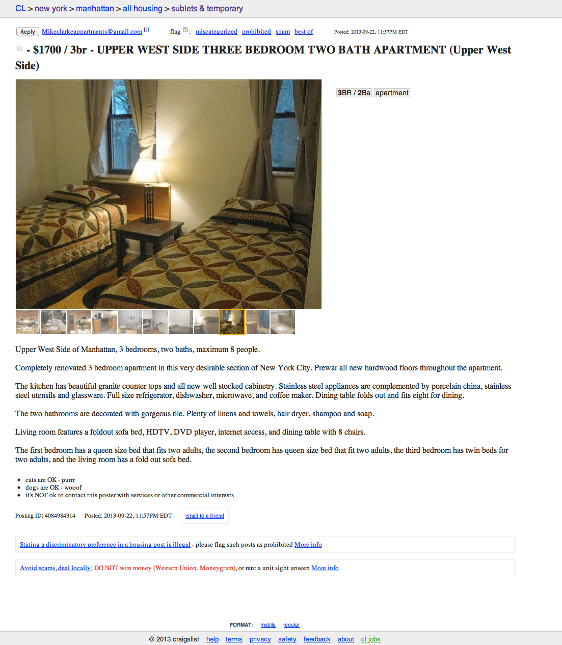 Craigslist Apartment For Rent Nyc: Sniffing Out Rental Scams