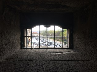 Through the tower's window