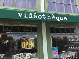 Outside Videotheque.