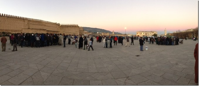 the square in Fez