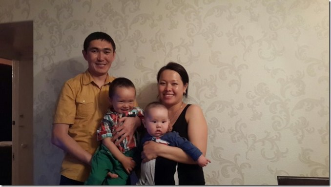 Azat and his beautiful Kyrgyz family