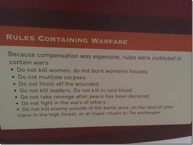 Rules of Warfare in Papua New Guinea