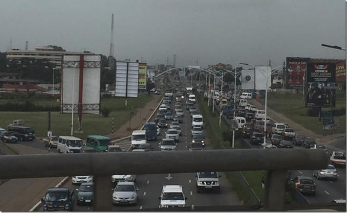 traffic in Accra Ghana