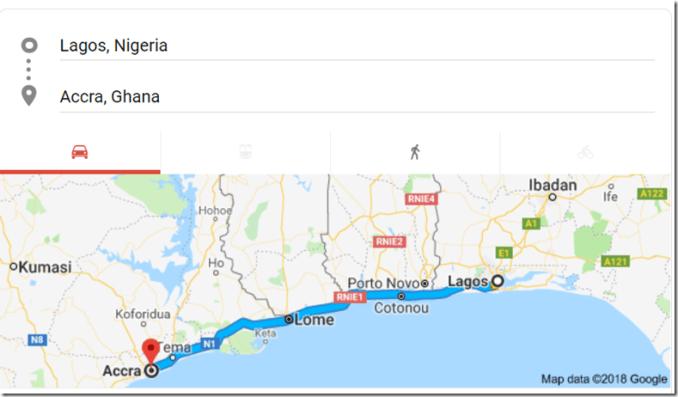 ghana to nigeria