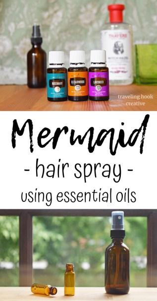 Mermaid Hair Spray using Essential Oils