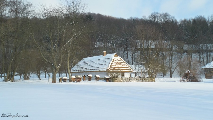 winter in open air museum in Sanok
