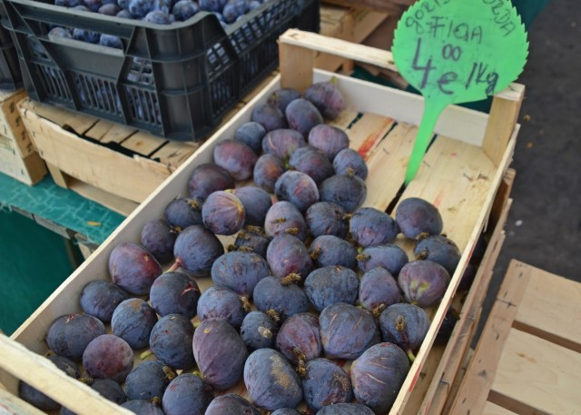 Delicious figs with happy bees at The Central Market in Ljublijana. by @ travelingintandem