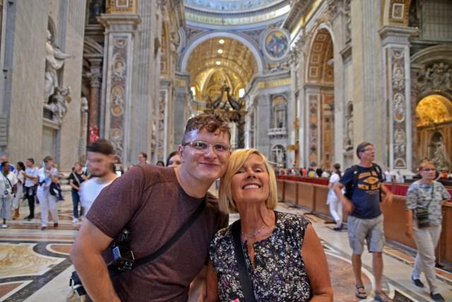 Grandma and Steve in St. Peter's Basilica @travelingintandem
