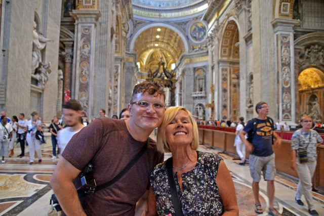 Grandma and Steve in St. Peter's Basilica @travelingintandem
