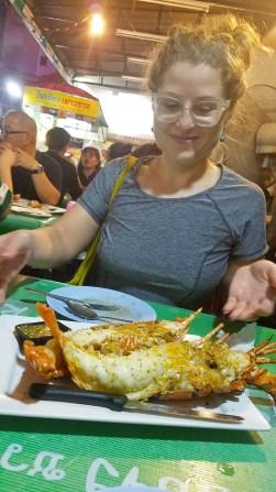 Grilled lobster Chinatown Bangkok @travelingintandem