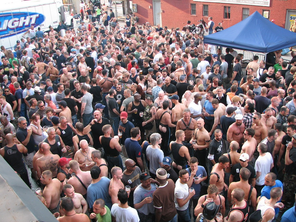 Leather men at Folsom Street East