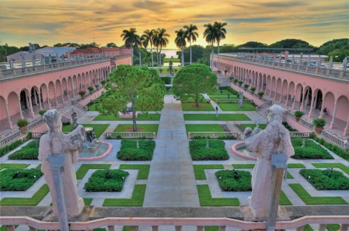 The Courtyard at The John and Mable Ringling Art Museum at The Ringling in Sarasota