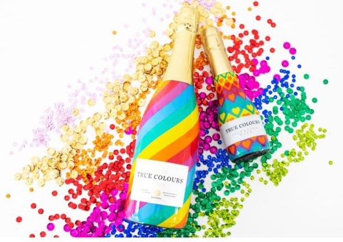 True Colours Cava rainbow bottles