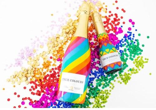 True Colours Cava rainbow bottles
