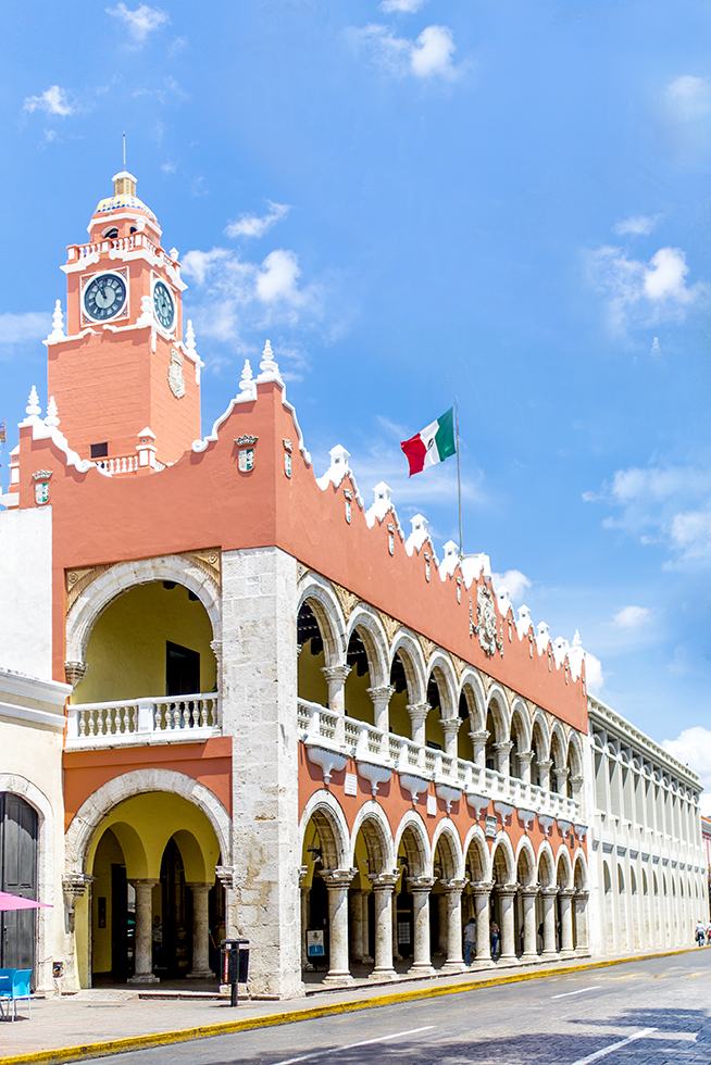 The Municipal Palace in Merida in Yucatan State in Mexico