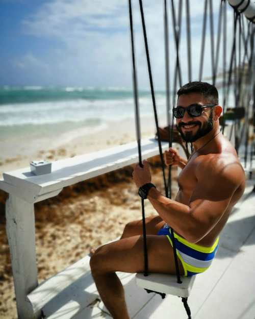Cute and sweet gay tour guide of Merida, Mexico. Ricardo of Merida Gay Tours