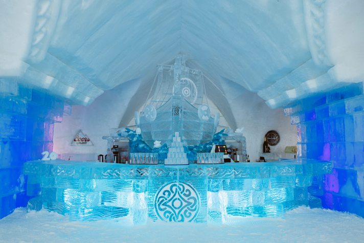 The Ice Bar at Hôtel de Glace (Ice Hotel) in Québec
