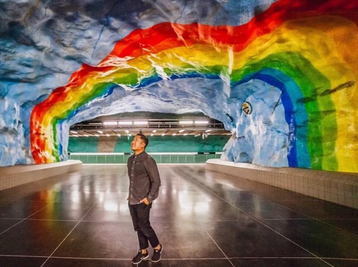 Stockholm Rainbow Metro station