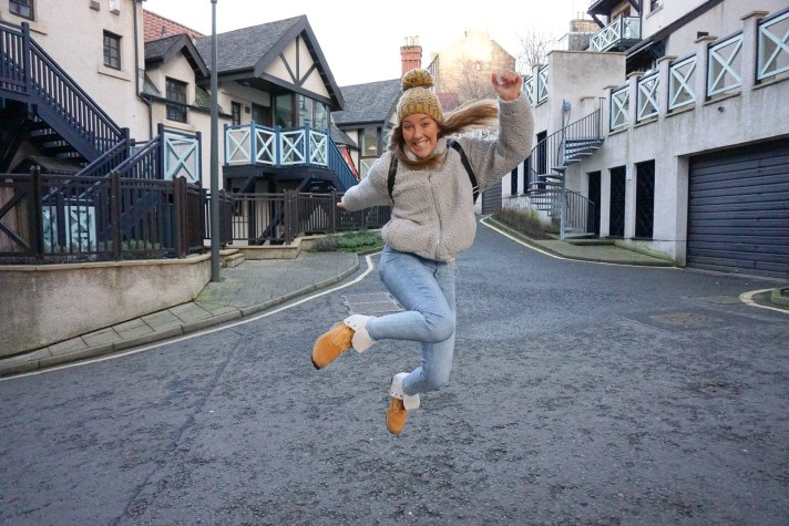 Jump for joy in Edinburgh's Dean Village